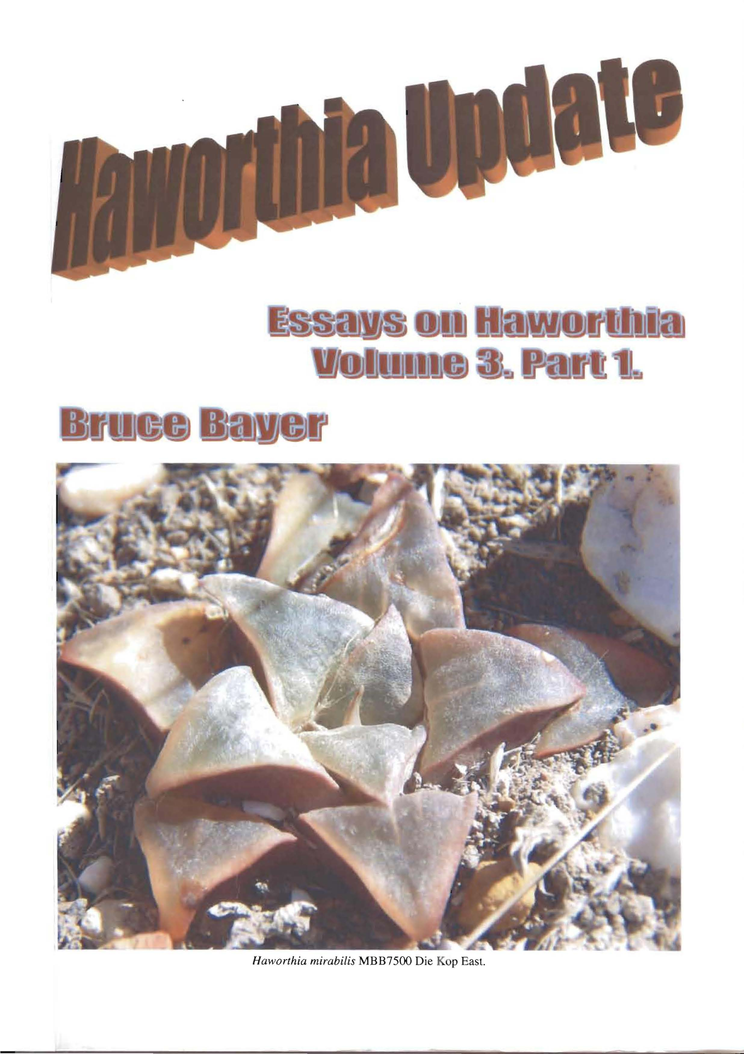 Haworthia Updates vol. 3